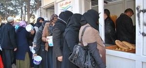 250 Suriyeli aileye et dağıtıldı
