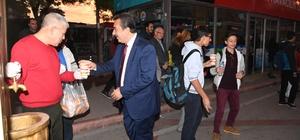 Başkan Çetin çorba ikram etti