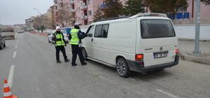 Karaman'da kış lastiği uygulaması