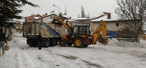 Başçiftlik'te karla mücadele