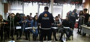 Ereğli'de gönüllü itfaiyecilik kursu