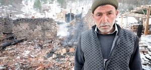 Yangının evsiz bıraktığı aileye yardım