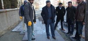 Seydişehir'de kaldırım çalışmalarına başlandı