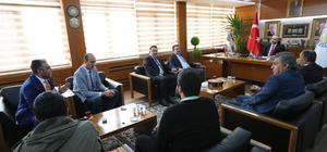 Gazeteciler Vali Gül ve Başkan Aydın'ı ziyaret etti