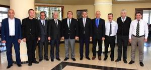 Kaymakam Okur'dan Başkan Alıcık'a veda ziyareti