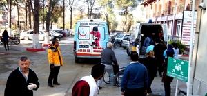 Ambulans seslerini duyanlar hastaneye koştu