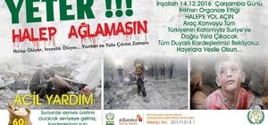 """Bitlisliler """"Halep'e Yol Açın"""" konvoyuna katılacak"""