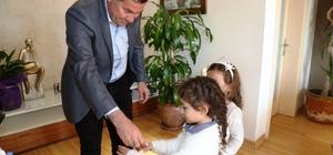 Minikler Başkan ile tanıştı