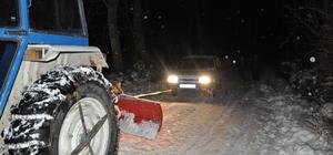 Kastamonu'da kar hayatı olumsuz etkiliyor