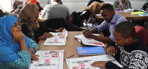 Cibutili öğrenciler Türkçe öğreniyor