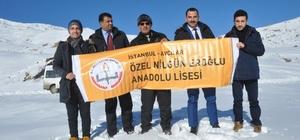 İstanbul'dan Ağrılı öğrencilere malzeme