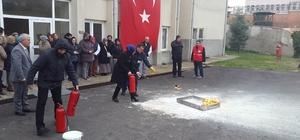 Çorlu Huzurevi'nde yangın eğitimi verildi