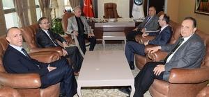 Odunpazarı Kaymakamı ve Eskişehir Vali Yardımcılarından Rektör Gönen'e veda ziyareti