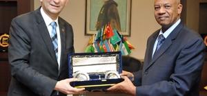 Sudan Başkonsolosundan GSO'ya ziyaret