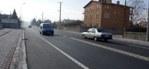 Meram'da yol düzenleme çalışmaları sürüyor