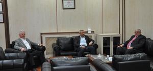 AK Parti Teşkilat Başkan Yardımcısı Yüksektepe Erzurum Ticaret Borsası'nı ziyaret etti