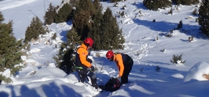 Kayak merkezi'nde ki kurtarma tatbikatı gerçeği aratmadı