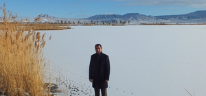 Ulaş Gölü buz tuttu
