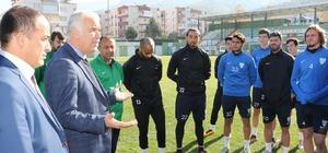 Güzgülü'den Büyükşehir Belediyespor'a moral ziyareti