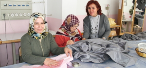 Ev kadınları aldıkları kursla üretime geçti