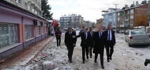 Vali Gül Numune Hastanesindeki yıkım çalışmalarını inceledi