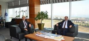 Marmaraereğlisi Kaymakamı Karameşe'den NKÜ Rektörü Şimşek'e veda ziyareti