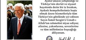 Başkan Haluk Alıcık, İsmet Sezgin için taziye mesajı yayımladı