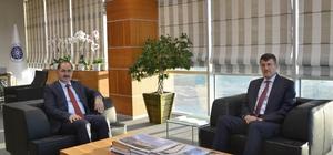 Kaymakamı Atılkan'dan NKÜ Rektörü Şimşek'e veda ziyareti