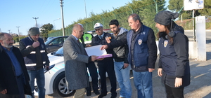Mudanya'da polis ekiplerine baklava ikramı