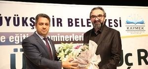 Yazar Senai Demirci, KAYMEK eğitim seminerine katıldı