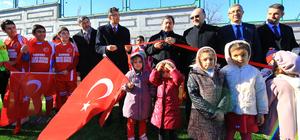 Kur'an kursu öğrencileri için halı saha açıldı