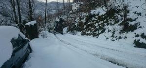 Görele'de karla mücadele çalışmaları