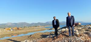 Başkan Çetinkaya, Akmaz Deresi'ndeki çalışmaları inceledi