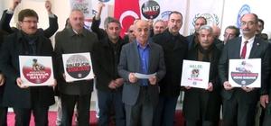 "Özbey: ""Halep'i açlıktan insanlığı utançtan kurtaralım"""