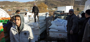 Sınır kamplarına insani yardım