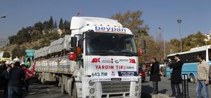 Kahramanmaraş'tan Suriye'ye yardım konvoyu