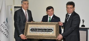 Ahmet Davutoğlu, KTB'yi ziyaret etti