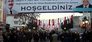 Prof. Dr. Yılmaz Büyükerşen Caddesi açıldı