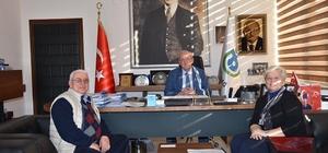 Prof. Dr. Atik, arkeolojik çalışmalar hakkında Başkan Albayrak'a bilgi verdi