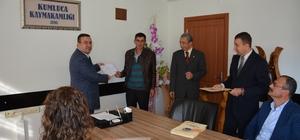 Kumluca'da sürü yönetimi elemanları, belgelerini aldı