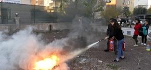 Muratpaşa Gençlik Evi'nde yangın tatbikatı