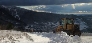 Tokat'ta karla mücadele çalışmaları