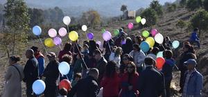 Kazada ölen öğrenciler anısına fidan diktiler