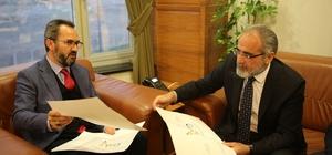 Cumhurbaşkanlığı Başdanışmanı Yalçın Topçu Rektör Vekili Aydınlı'yı Ziyaret Etti