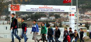 Yayladağı'ndaki konteyner kente Antalya'dan ziyaret