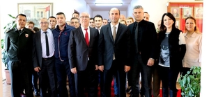 Kaymakam Karameşe Başkan Uyan'la vedalaştı