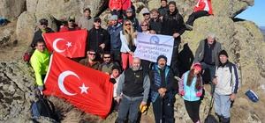 AFDOS üyeleri Eğerli Tepesi'ne yürüdü