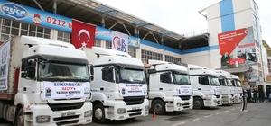 Bayrampaşa Belediyesi'nden Halep'e yardım eli