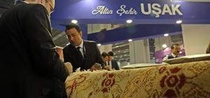 Uşak'ın değerleri İzmir Turizm Fuarı'nda tanıtıldı