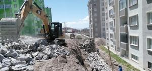 Büyükşehir il genelinde menfez ve istinat duvarı yapıyor